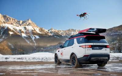 Land Rover's new Discovery search and rescue SUV has a roof-mounted drone